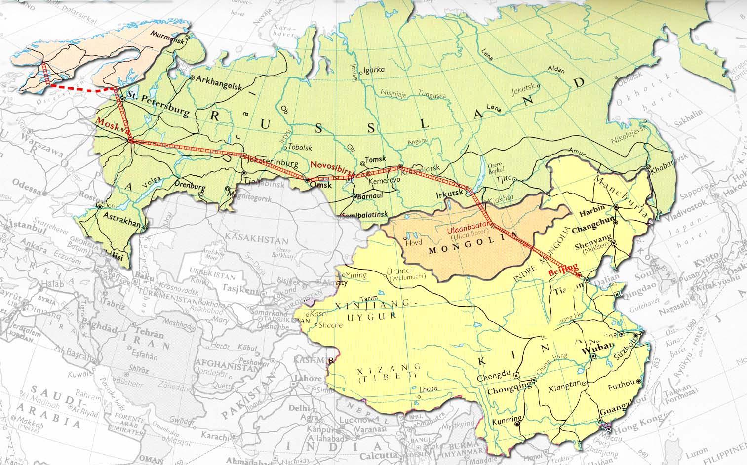 kart sibir TransSibir Expedition 2005 kart sibir